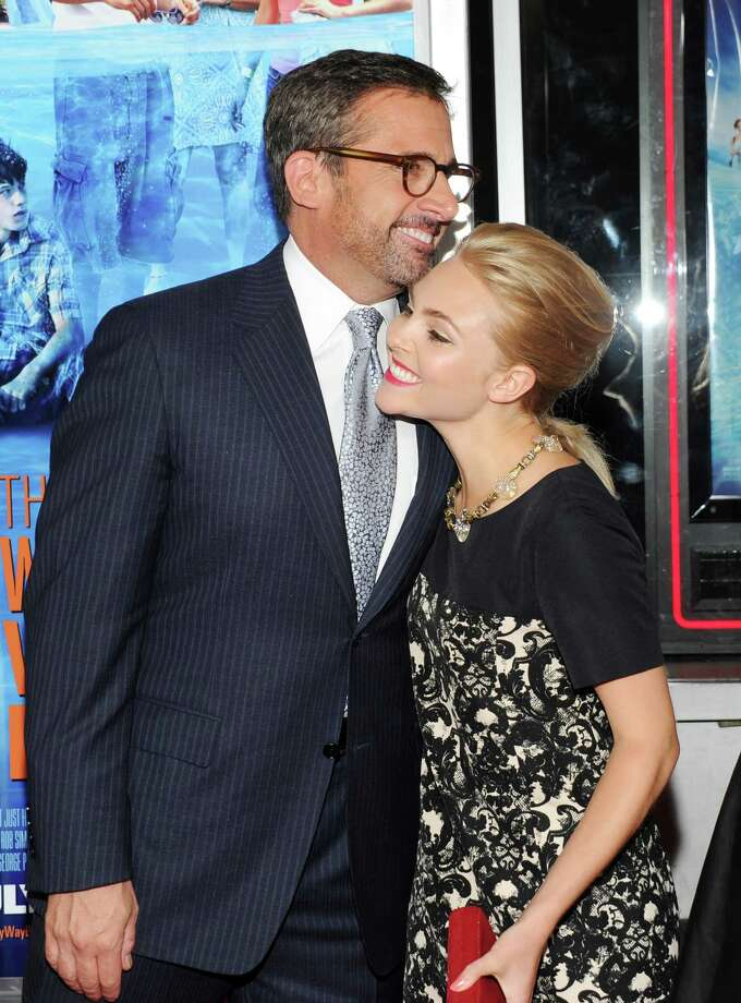 "Actors Steve Carell, left, and AnnaSophia Robb attend the premiere for ""The Way, Way Back"" at the AMC Loews Lincoln Square on Wednesday, June 26, 2013, in New York. (Photo by Evan Agostini/Invision/AP) ORG XMIT: NYEA118 Photo: Evan Agostini, AP / Invision"