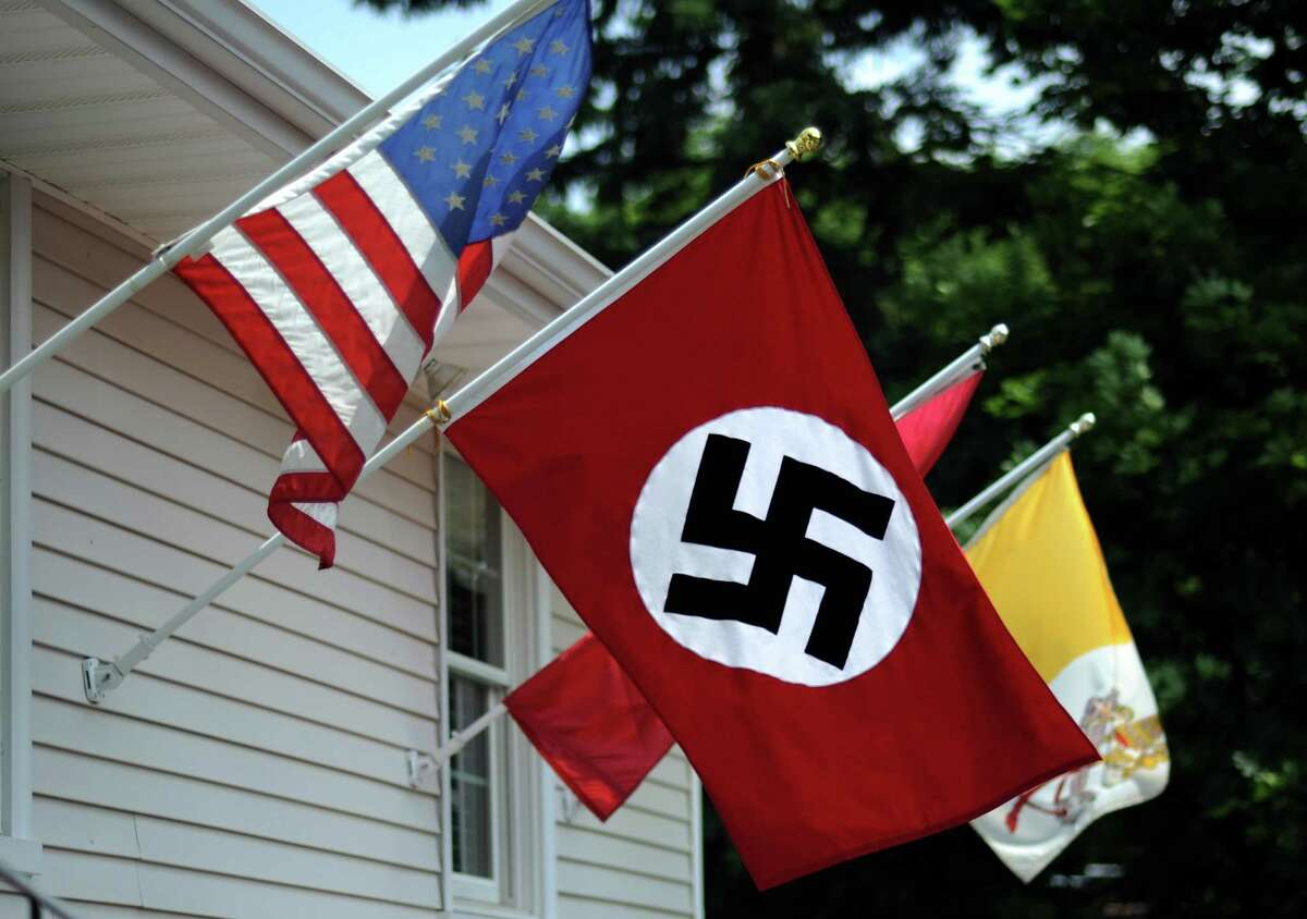 Joseph Sincavage has been flying a Nazi flag outside his Stratford home he says in protest of President Barack Obama.