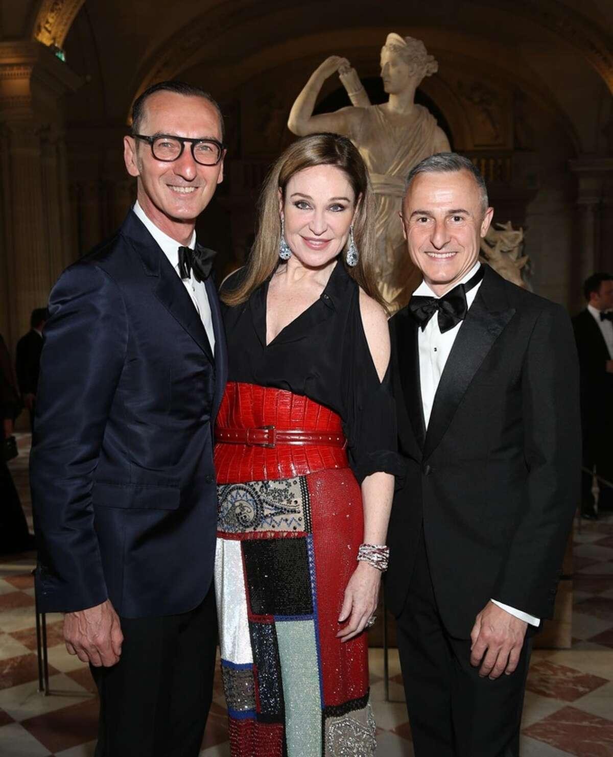 Bruno Frisoni, left, Becca Cason Thrash and Herve Van der Straeten