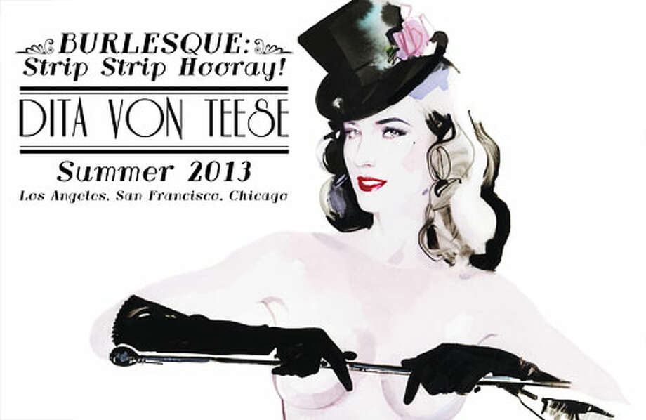 Burlesque performer Dita von Teese visits The Fillmore for Strip Strip Hooray!.