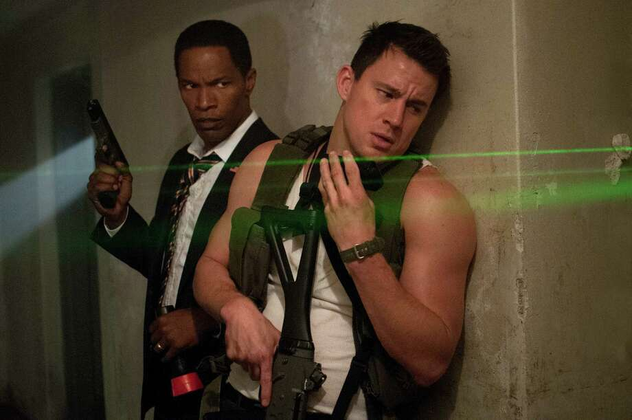 """Jamie Foxx, left, and Channing Tatum star in Columbia Pictures' """"White House Down."""" Photo: Reiner Bajo / © 2013 Columbia Pictures Industries, Inc.  All Rights Reserved. **ALL IMAGES ARE PROPERTY OF SONY PICTURES ENTERTAINMENT INC. F"""