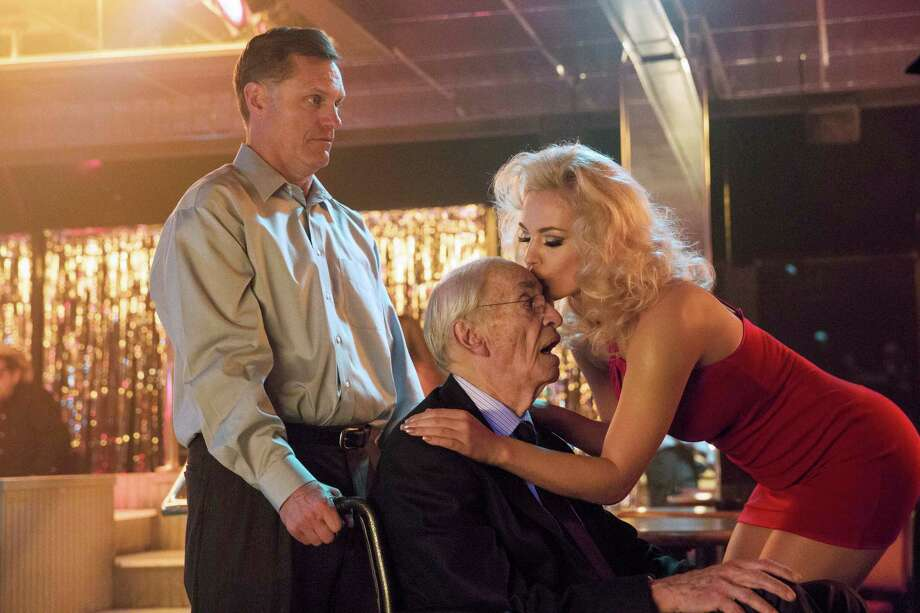 (L to R) Martin Landau ( J. Howard Marshall ) and Agnes Brucker ( Anna Nicole Smith ) star in the all-new Lifetime Original Movie, Anna Nicole, premiering Saturday, June 29, at 8pm ET/PT on Lifetime. Photo by Bob Mahoney Copyright 2011 Photo: Lifetime / Copyright 2012 Bob Mahoney