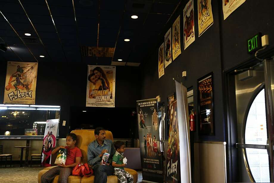 Fremont's fast-growing East Indian population provides the Big Cinema, above, an audience for its popular Bollywood films. Photo: Katie Meek, The Chronicle