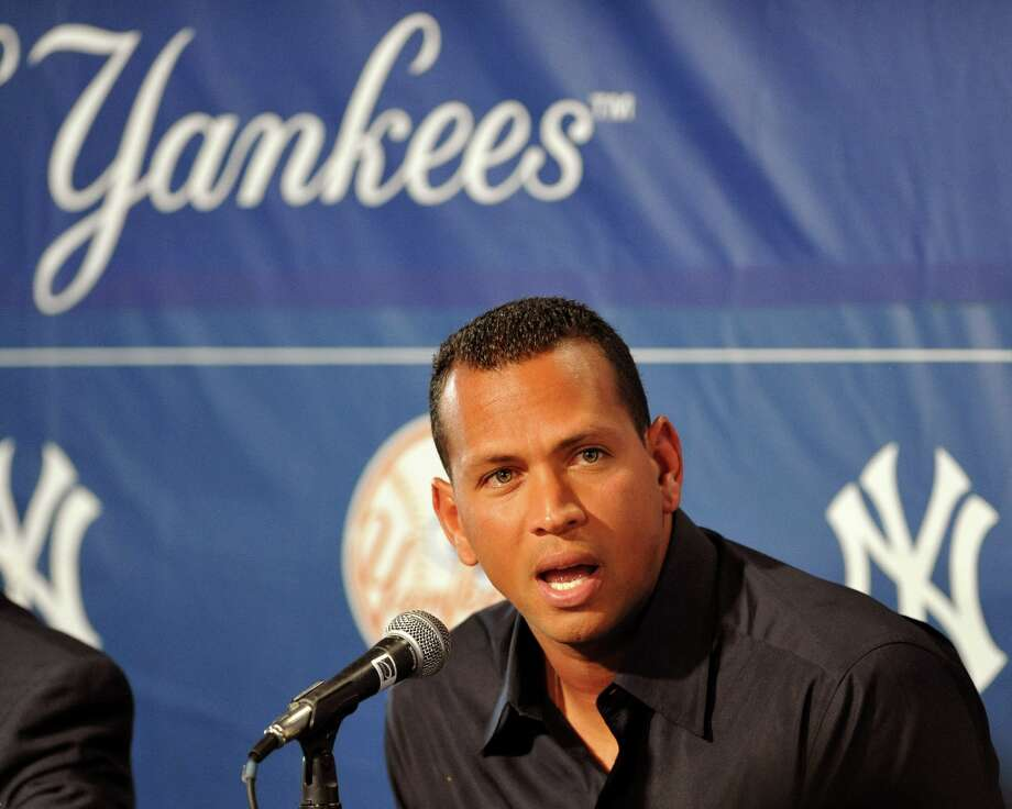"Alex Rodriguez of the New York Yankees talks during a press conference February 17, 2008, at the George M. Steinbrenner Field in Tampa, Florida. The Yankees third baseman admitted to taking a substance known as ""boli"" acquired with his cousin in the Dominican Republic in 2001. Photo: Al Messerschmidt, Getty Images / 2009 Getty Images"