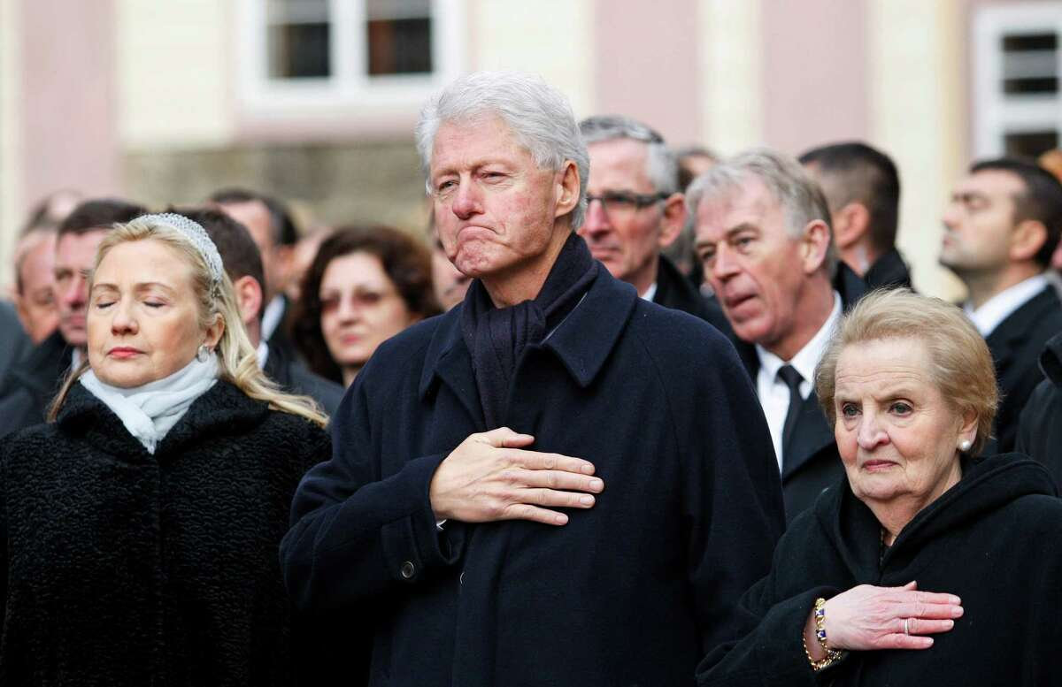 """- Bill Clinton: The future 41st president was dogged on the 1992 campaign trail with questions about whether he ever used drugs. He was cornered on one TV program, and delivered a response that late night comics would love: """"When I was in England, I experimented with marijuana a time or two, and I didn't like it. I didn't inhale and never tried it again."""""""