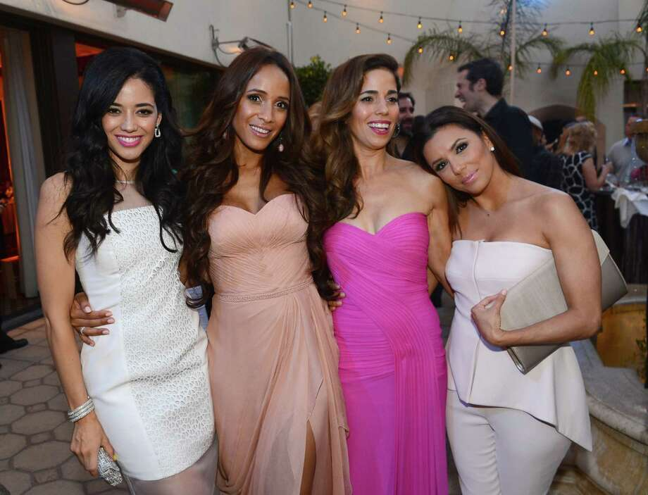"A step up for Hispanics in entertainment or just the same old stereotyping? ""Devious Maids"" actresses (from left) Edy Ganem, Dania Ramirez and Ana Ortiz and executive producer Eva Longoria attend the show's premiere. Photo: Mark Davis, Getty Images"