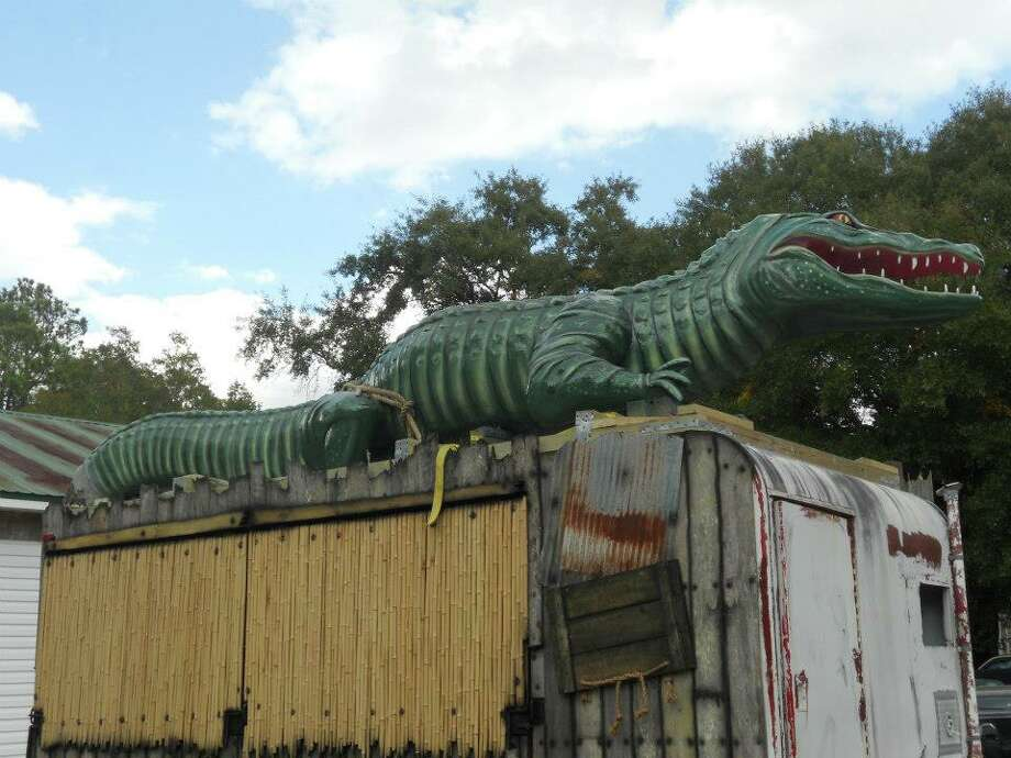 Tiny Town Studios also designed this food truck with an alligator made from lightweight concrete. Courtesy photo.
