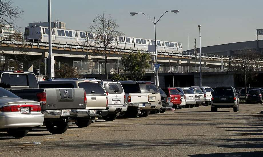 BART charges $5 a day for parking at the West Oakland lot. Other lots are cheaper but also face fee increases to pay for maintenance. Photo: Michael Macor, The Chronicle