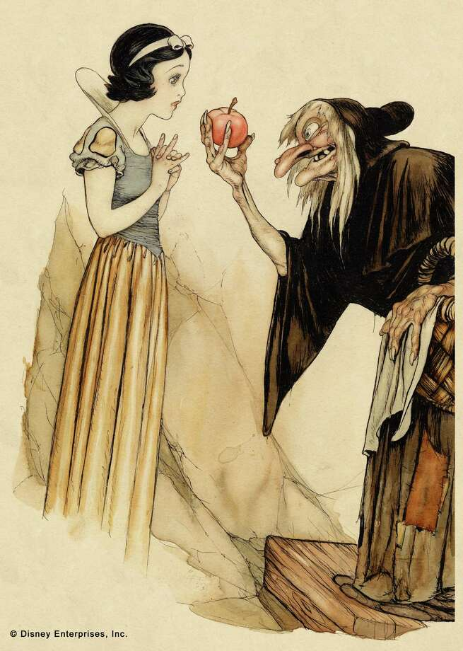 Above: Snow White, watercolor and ink on paper, courtesy Walt Disney Family Foundation.