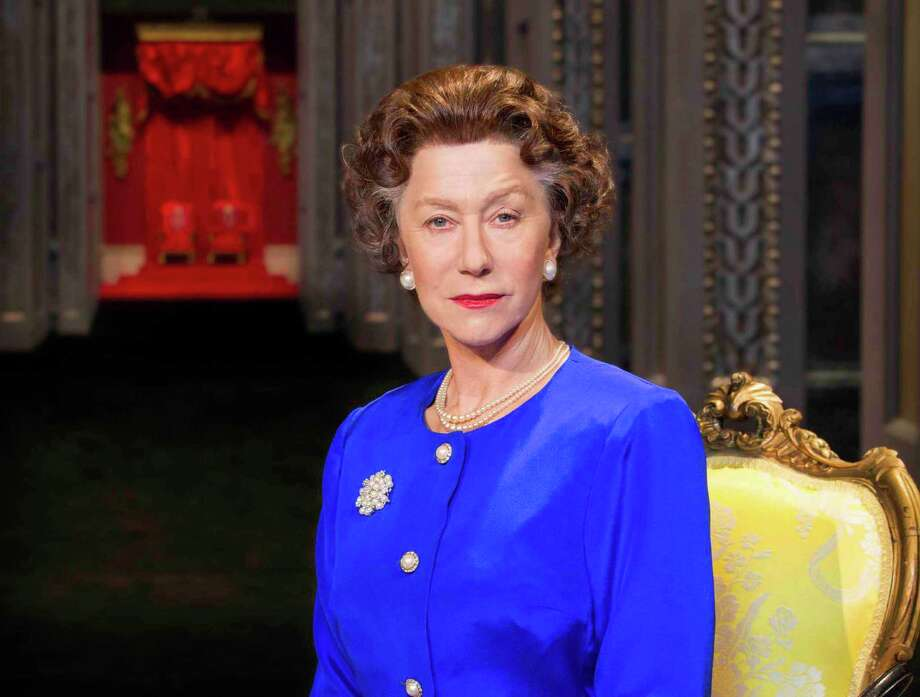 "FILE - This undated file image provided by Boneau/Bryan-Brown shows Helen Mirren as Queen Elizabeth II in a promotional photo for Peter Morgan's play ""The Audience."" National Theatre Live, which broadcasts stage shows from England to movie screens worldwide, said Monday, June 17, 2013, that its June 13 live broadcast of Mirren as Queen Elizabeth II in the play ""The Audience"" has captured its largest audience to date. (AP Photo/Boneau/Bryan-Brown, Johan Persson, File) Photo: Johan Persson"