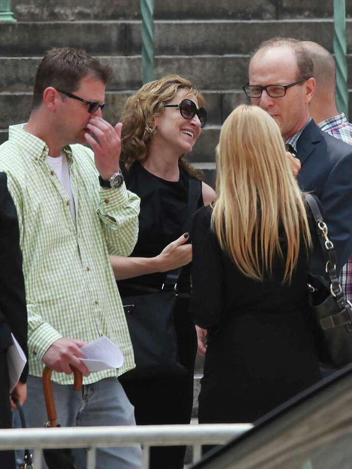Edie Falco attends the funeral of actor James Gandolfini at The Cathedral Church of St. John the Divine on June 27, 2013 in New York City. Gandolfini passed away on June 19, 2013 while vacationing in Rome, Italy. Photo: Rob Kim, Getty Images / 2013 Getty Images