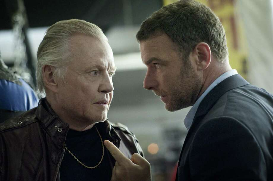 "Jon Voight (left) and Liev Schreiber, as a father and son dangerously at odds with each other, electrify the screen in edgy new drama ""Ray Donovan."" Photo: Showtime"