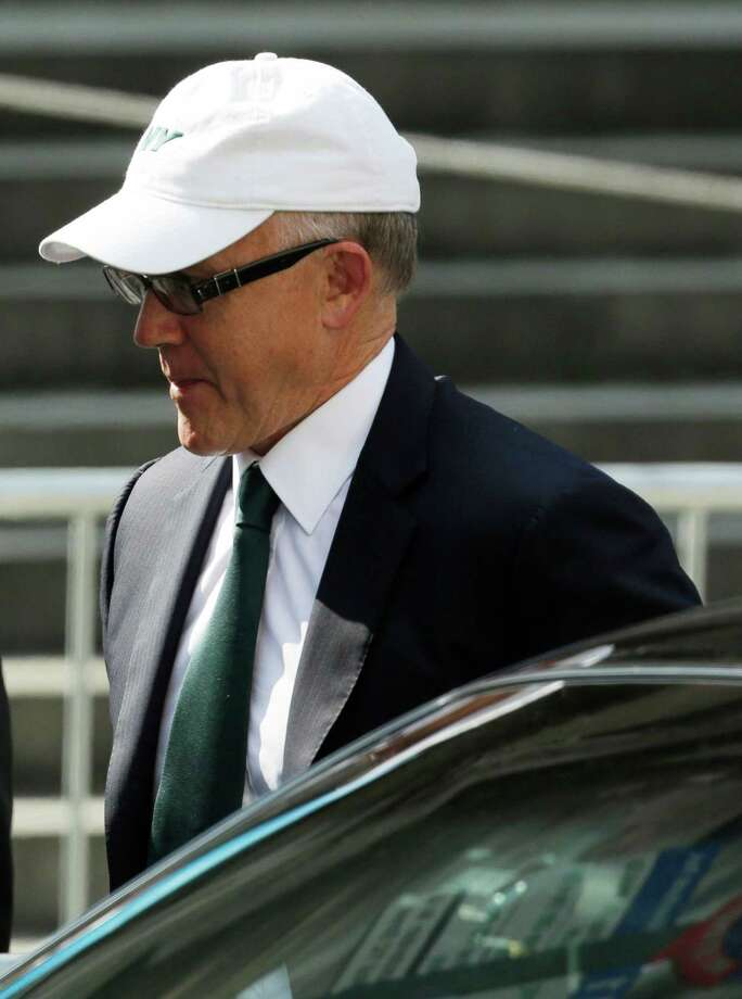 "New York Jets owner Woody Johnson arrives at Cathedral Church of Saint John the Divine for funeral services actor James Gandolfini, Thursday, June 27, 2013, in New York. Gandolfini, who played Tony Soprano in the HBO show ""The Sopranos"", died while vacationing in Italy last week. Photo: Julio Cortez, Associated Press / AP"