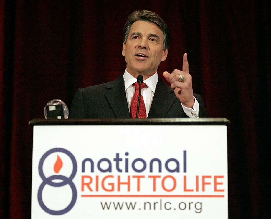 Gov. Rick Perry wants to toughen abortion restrictions in Texas. Photo: Stewart F. House, Getty Images