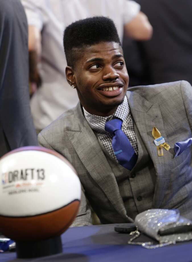 Kentucky forward Nerlens Noel waits for the first round of the NBA draft.