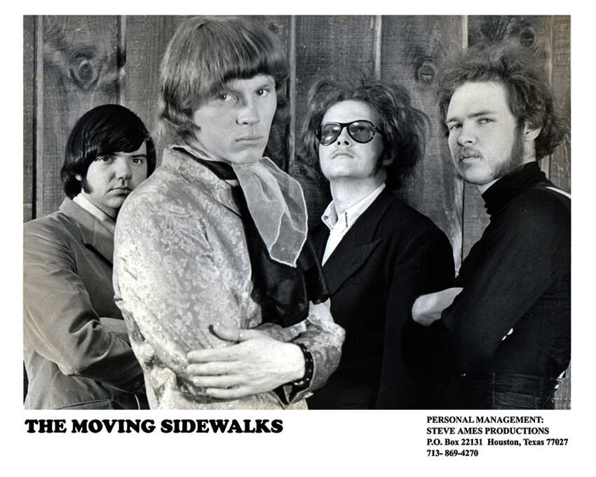 In the late 1960s Gibbons (far right) formed the psychedelic rock band the Moving Sidewalks with (from left) Dan Mitchell, Tom Moore, and Don Summers.