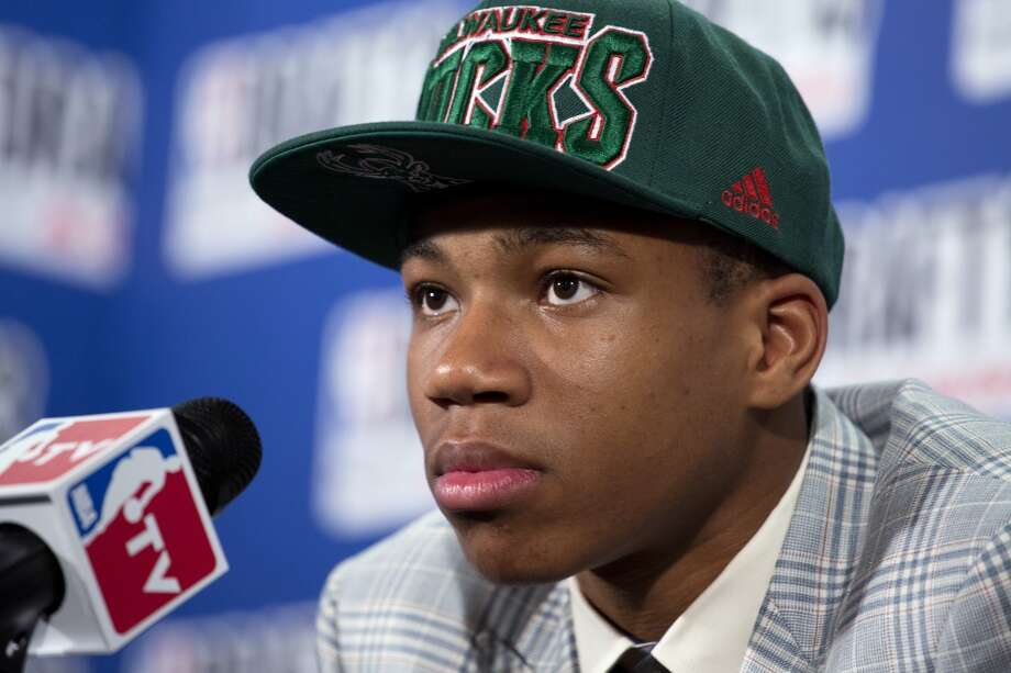 Giannis Antetokounmpo was drafted No. 15 overall by the Bucks.
