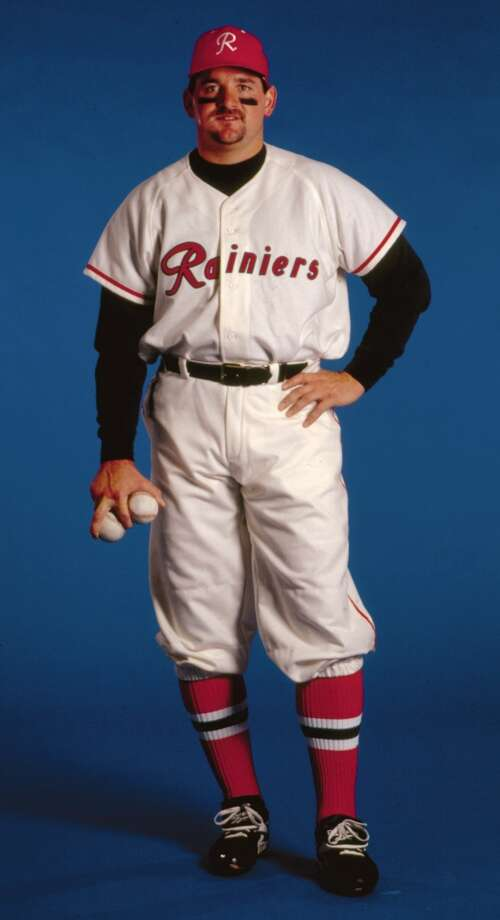 JUNE 11, 1994Oakland Oaks at 1955 Seattle RainiersThe Mariners first participated in ''Turn Back the Clock'' on May 21, 1993, when the M's wore their inaugural 1977 jerseys in Kansas City and the Royals wore their 1969 duds. Yet this game in June 1994 was the first ''Turn Back the Clock'' night in Seattle. At the Kingdome, the Mariners dressed as the Pacific Coast League-champion Seattle Rainiers of 1955 (modeled here by pitcher Chris Bosio). The Oakland Athletics dressed as Seattle's PCL rivals, the 1955 Oaks. Bosio and the M's ended up winning that game 6-3.