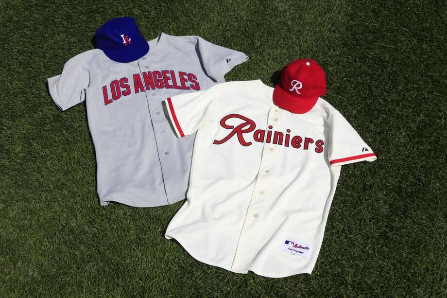 Los Angeles Angels at 1955 Seattle Rainiers (continued)  It was the second ''Turn Back the Clock'' promotion in which the Mariners honored the Rainiers' 1955 Pacific Coast Championship season (they first did in 1994). Above, you can see both teams' throwback jerseys. In that game May 26, 2012, starter Felix Hernandez and the Mariners ended up losing 5-3 in Seattle.