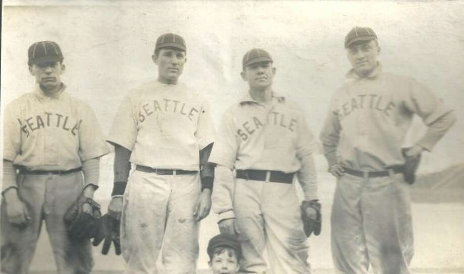 Chicago Cubs at 1909 Seattle Turks (continued)  Here's an old photo of four Seattle Turks ballplayers, taken in 1909. The Turks only existed by that name for one season, previously known as the Seattle Siwashes and in 1910 renamed the Seattle Giants, according to the Mariners. The Turks played at Seattle's old Yesler Way Field, which hosted professional baseball from 1907 to 1912.  Saturday's ''Turn Back the Clock'' game against the Cubs is scheduled to start at 4:15 p.m. at Safeco Field. The first 20,000 fans will receive a free ''Turn Back the Clock'' Mariners poster.  And, if you're interested, there's a great repository of Mariners ''Turn Back the Clock'' history on this Seattle Mariners Uniform History website.