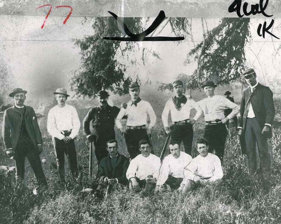 """This is the oldest known photograph of a Seattle baseball team. The very first team, known as the Alkis, was put together in 1876. But this photo is of the Seattle Reds, the champions of Washington Territory.Our archival photo caption reads: """"As you see, they were not completely uniformed when the photograph was taken in 1884. Their sworn enemies were the Willamettes, the Oregon champions. In 1886 they toured the Pacific Northwest."""" Photo: Seattle P-I File"""