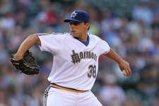 During the 2011 season, the Mariners wore the 1984 uniform during a throwback game. Here you can see it on pitcher Jason Vargas.