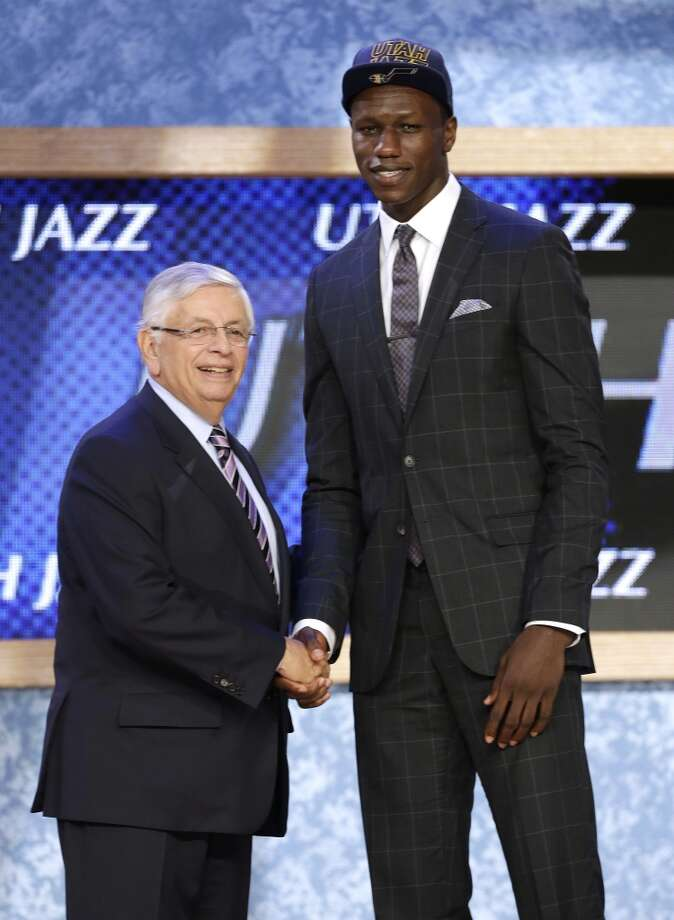 Gorgui Dieng was drafted No. 21 overall by the Jazz.
