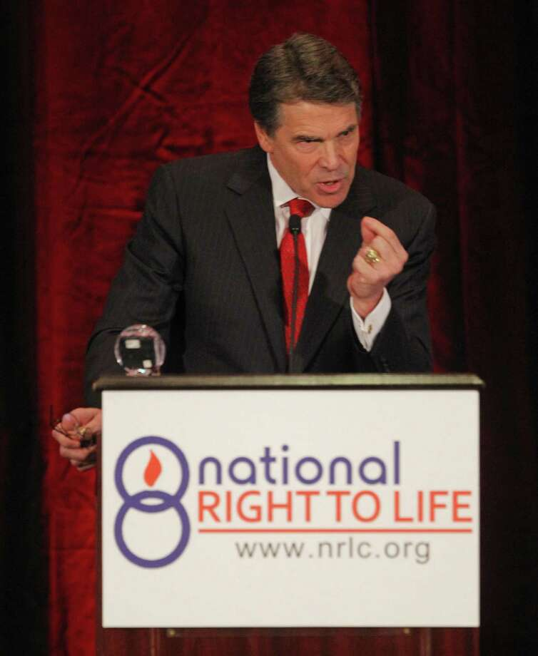 Gov. Rick Perry speaks during the general session of the 43rd annual National Right to Life Convention at the Hyatt Regency DFW International Airport, Thursday, June 27, 2013. Photo: Rodger Mallison, McClatchy-Tribune News Service / Fort Worth Star-Telegram