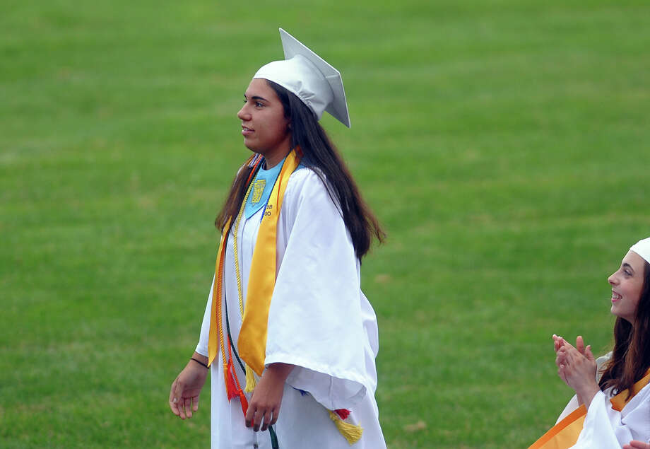 Class Valedictorian Jessica Alves during Seymour High School's 126th Annual Commencement in Seymour, Conn. on Thursday June 27, 2013. Photo: Christian Abraham / Connecticut Post