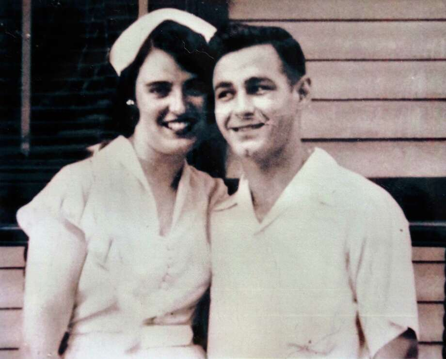 Photo courtesy of the Miner family:  Doris and Henry Miner in their wedding photo from June 22, 1953, in Albany, NY.  The couple had been married 60 years and died within 24 hours of each other earlier this week. Photo: JOHN CARL D'ANNIBALE / 00022985A