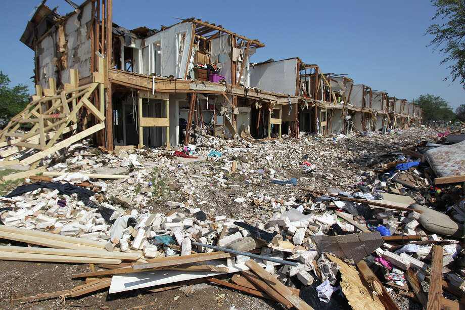 the site of the fire and explosion in West, Texas on  April 24 2013. Photo: For The San Antonio Express-News