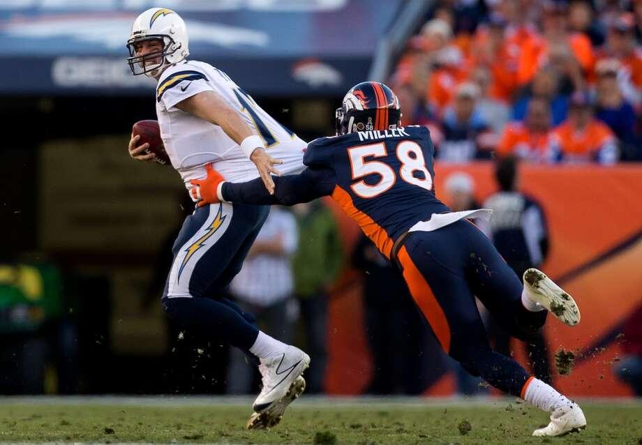 No. 9 Von Miller, OLB, Broncos2012 stats: 16 games, 55 tackles, 18.5 sacks, 6 forced fumbles, 1 int., 1 TD. Photo: Justin Edmonds, Getty Images