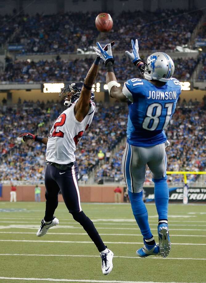 No. 3 Calvin Johnson, WR, Lions2012 stats: 16 games, 122 catches, 1964 receiving yards (NFL record), 5 receiving TDs. Photo: Gregory Shamus, Getty Images