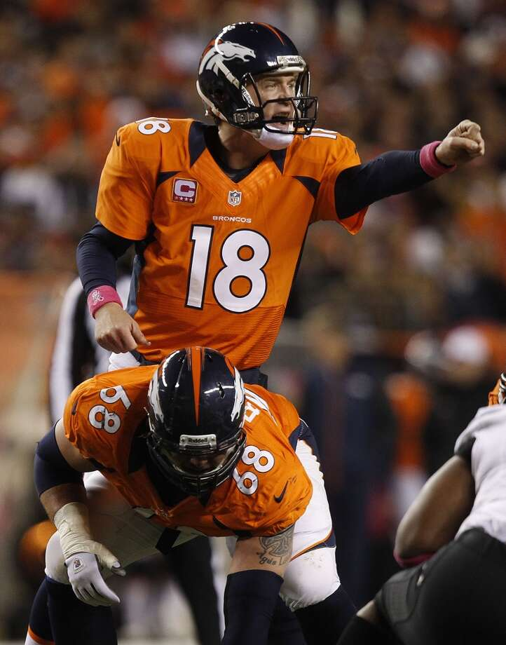No. 2 Peyton Manning, QB, Broncos 2012 stats: 16 games, 13-3 record, 4659 passing yards, 37 passing TDs, 11 int. Photo: David Zalubowski, Associated Press
