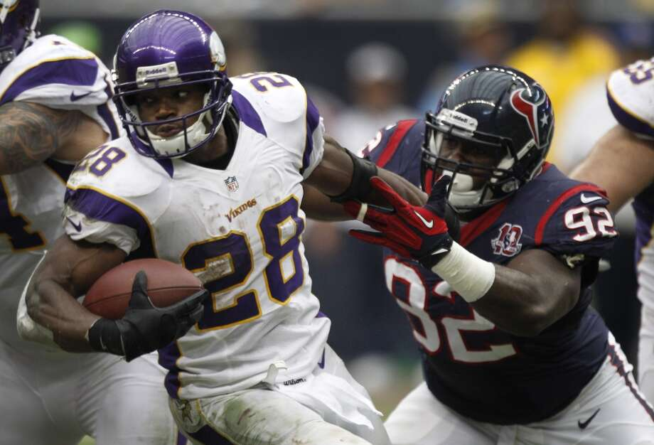 No. 1  Adrian Peterson, RB, Vikings 2012 stats: 16 games, 2097 rushing yards (2nd most in one season all-time), 12 rushing TDs. Photo: Brett Coomer, Houston Chronicle