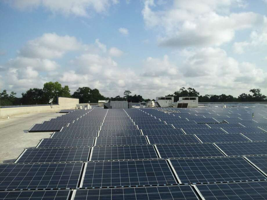The Houston Ikea store installed more than 3,000 solar panels last year. Soon it will offer electric vehicle charging stations.