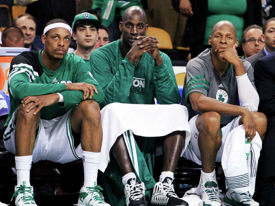 The Celtics dismantled the last key pieces of their title team by trading Paul Pierce and Kevin Garnett. Photo: Elise Amendola, STF / AP