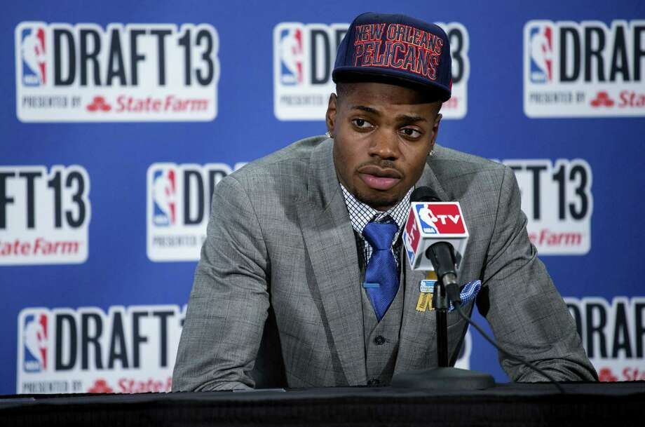 Kentucky's Nerlens Noel, who had been a favorite to be selected No. 1 overall, slid to New Orleans at No. 6 and was traded to Philadelphia in a deal that sent Jrue Holiday to the Pelicans. Photo: Craig Ruttle / Associated Press