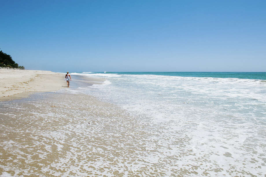 San Clemente State Beach is a national  'superstar' in terms of clean water and testing practices, as far as the Natural Resources Defense Council is concerned. Above: Its Las Palmeras section, one of two areas singled out for acclaim in the NRDC's annual beachwater-quality report.