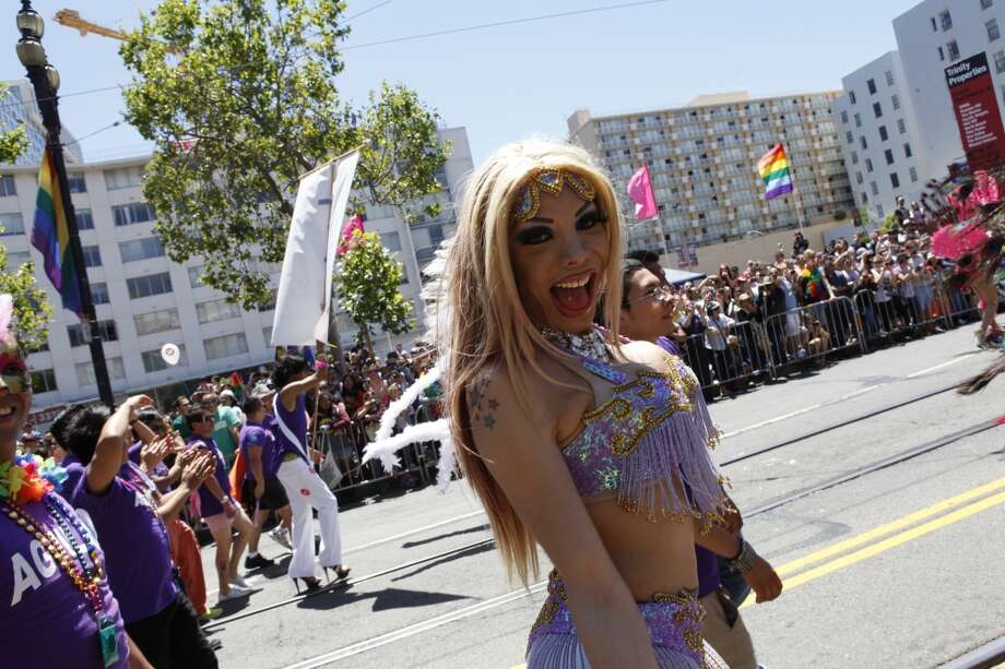 A scene from the 2012 Pride Parade in San Francisco.