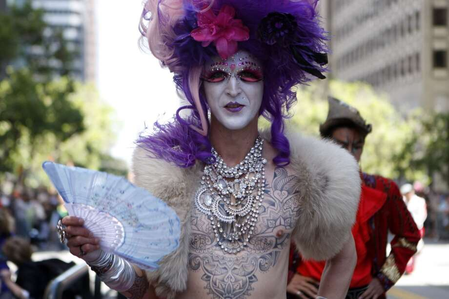 Elaborate costumes and vibrant colors add excitement and life to the San Francisco Pride Parade.