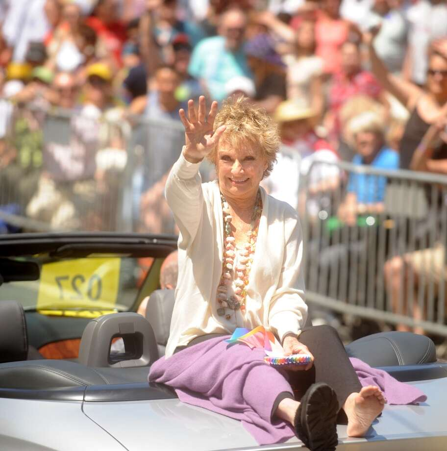Cloris Leachman, a celebrity grand marshall, waves during the 2009 Pride Parade.