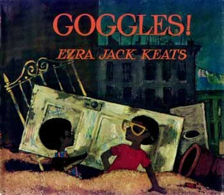 """Goggles! In Keats 1969 book """"Goggles!"""", Peter finds a rare treasure, a pair of old, beat-up motorcycle goggles. Age Range: 3 - 8 years Photo: Courtesy Of The Ezra Jack Keats Foundation"""