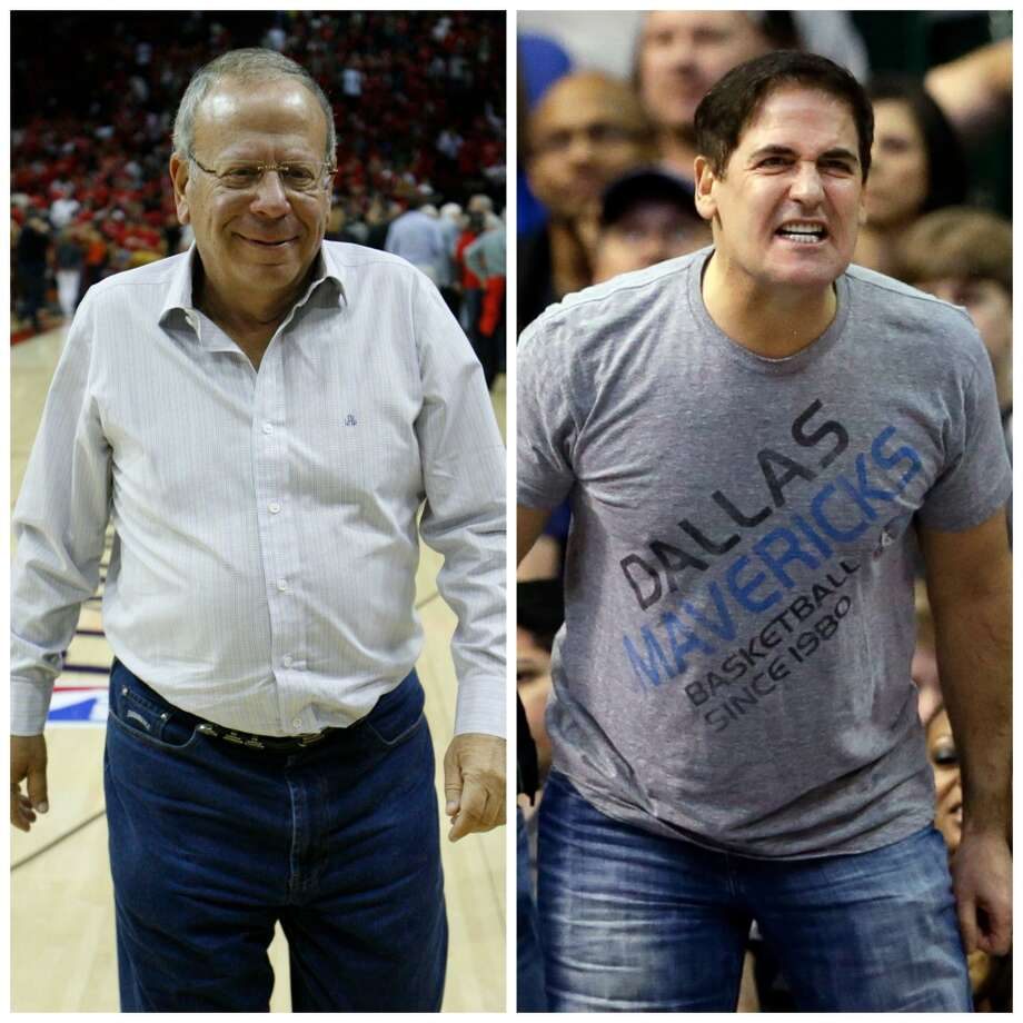 Leslie Alexander vs. Mark Cuban Alexander spends a bit more time in Florida but is willing to write the big check when it's needed. Cuban wears those tight t-shirts, yells at refs and talks to reporters from a treadmill. Les is definitely less stress.