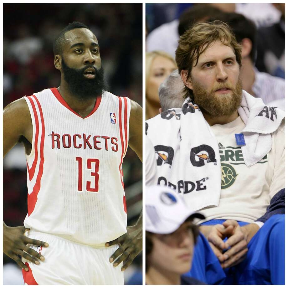 James Harden vs. Dirk Nowitzki Forget their play, age and position, Harden sports a far better beard than the one Nowitzki tried with the Mavericks last season.