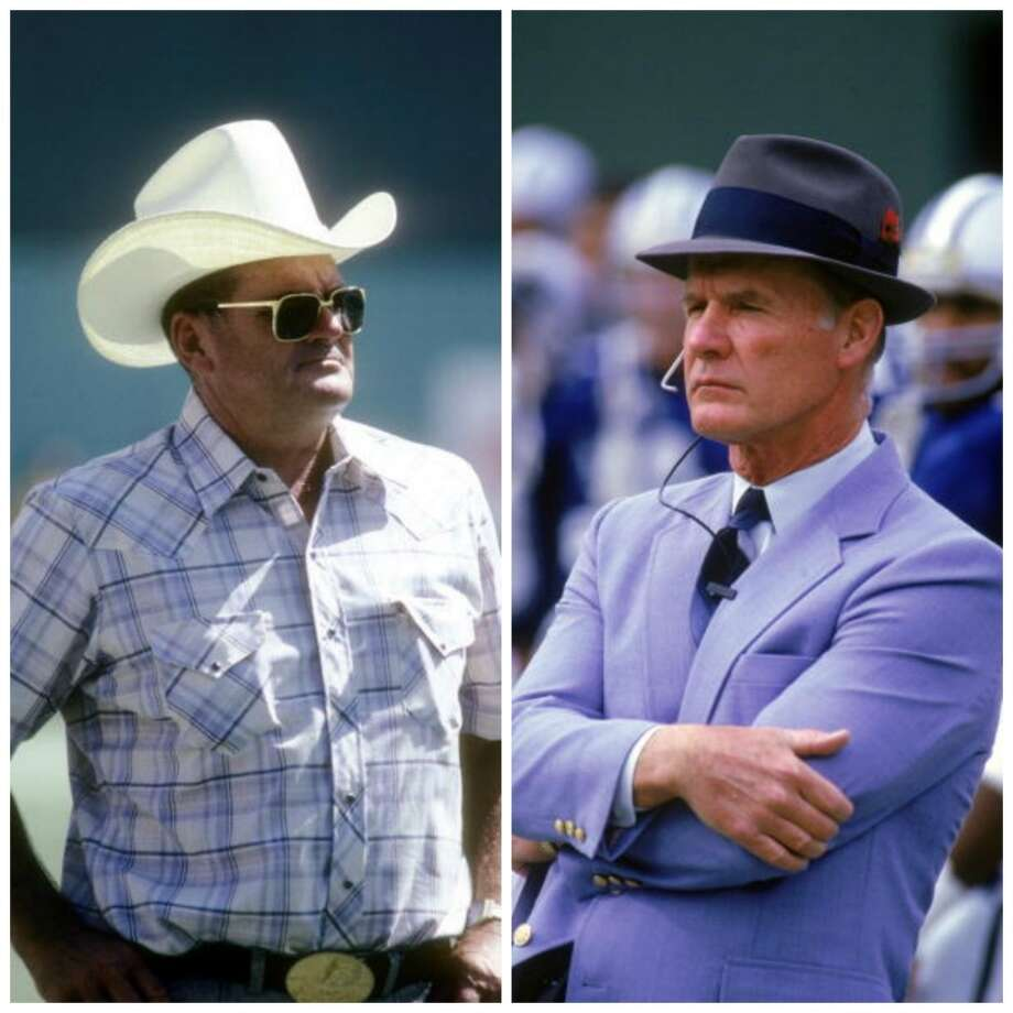 Bum Phillips vs. Tom Landry OK, so Bum never won a Super Bowl but more folks can relate to a cowboy hat than a fedora.