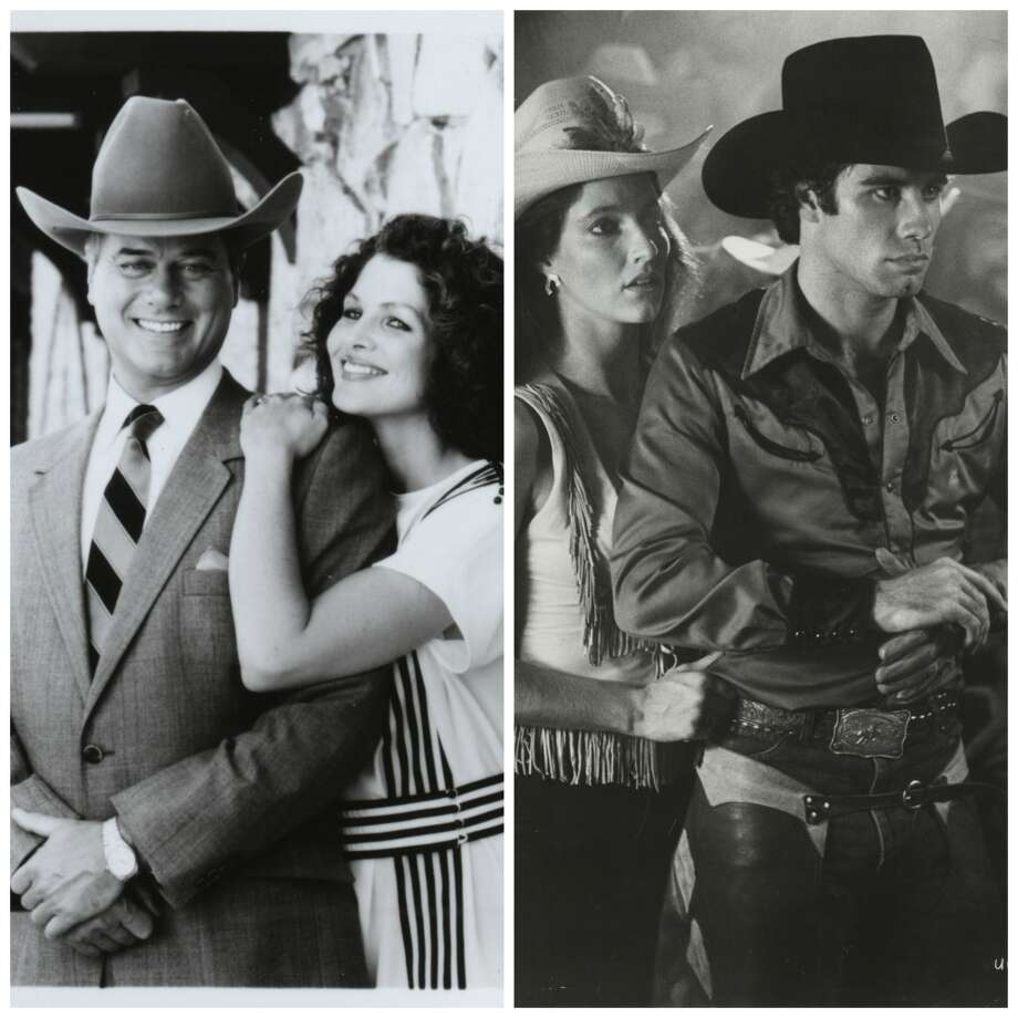 Dallas vs. Urban Cowboy Larry Hagman turned JR Ewing into the image many had of rich Texans but Houston of the 80s was all about Bud, Sissy and Gilley's.