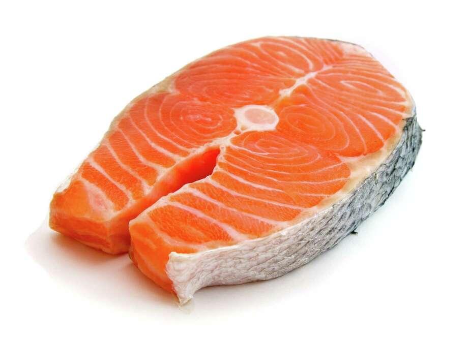 fresh salmon steak on white background Photo: Alex Staroseltsev / handout / stock agency