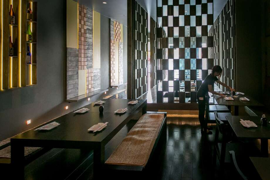 The interior of Sakesan Sushi & Bistro.