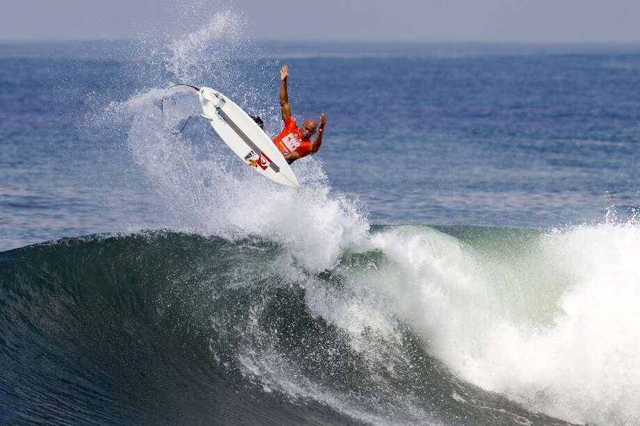 Kelly Slater of the United States of America surfs during round three on June 25, 2013 in Denpasar, Bali, Indonesia.